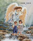 Dona Gelsinger, CHRISTMAS CHILDREN, paintings, USGE0616,#xk# Engel, angeles