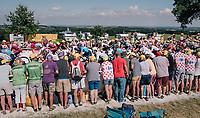 peloton passing for a first run up the Mûr de Bretagne<br /> <br /> Stage 6: Brest > Mûr de Bretagne / Guerlédan (181km)<br /> <br /> 105th Tour de France 2018<br /> ©kramon