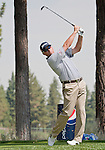 August 4, 2012:  John Rollins from Dallas, TX tees off on the 7th hole during the third round of the 2012 Reno-Tahoe Open Golf Tournament at Montreux Golf & Country Club in Reno, Nevada.