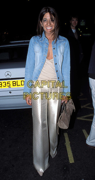"CLAUDIA WINKLEMAN..""Up For Grabs"" at The Wyndham Theatre ..Ref: 11704..denim jacket, silk trousers,  full length, full-length..www.capitalpictures.com..sales@capitalpictures.com..©Capital Pictures.. .."