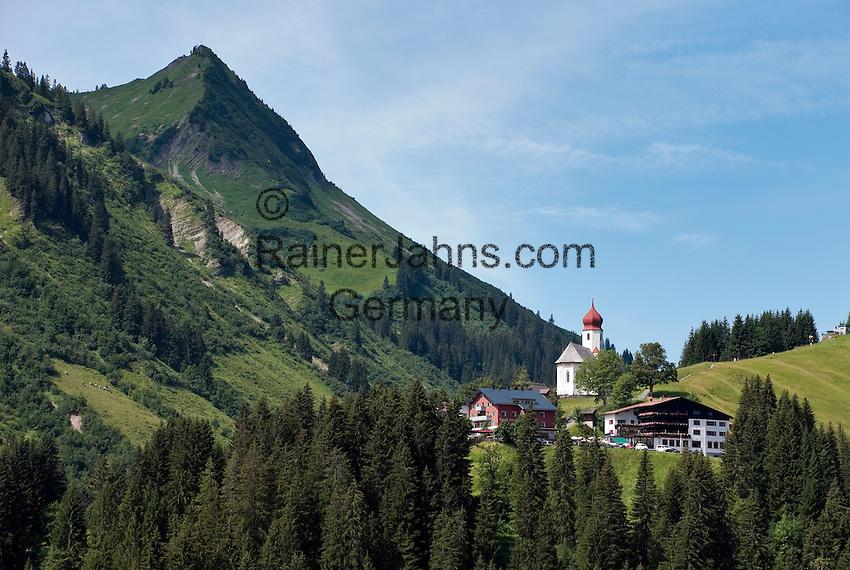 Austria, Vorarlberg, Damuels: hiking and skiing region at Bregenzer Wald