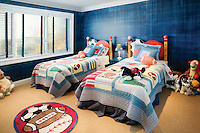 Shared Space Adolescent Blue Bedroom