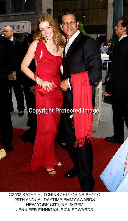 ©2002 KATHY HUTCHINS / HUTCHINS PHOTO.29TH ANNUAL DAYTIME EMMY AWARDS.NEW YORK CITY, NY  5/17/02.JENNIFER FINNIGAN, RICK EDWARDS