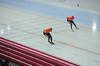 SPEED SKATING: HAMAR: Vikingskipet, 05-03-2017, ISU World Championship Allround, 10.000m Men, Sven Kramer (NED), Patrick Roest (NED), ©photo Martin de Jong