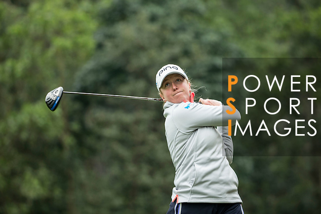 Hannah Burke of England tees off at the 14th hole during Round 2 of the World Ladies Championship 2016 on 11 March 2016 at Mission Hills Olazabal Golf Course in Dongguan, China. Photo by Victor Fraile / Power Sport Images