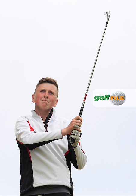 Conor Ruane (Galway Bay) on the 7th tee during Round 2 of the Irish Boys Amateur Open Championship at Tuam Golf Club on Wednesday 24th June 2015.<br /> Picture:  Thos Caffrey / www.golffile.ie