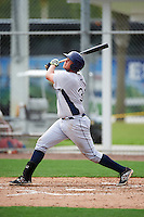 GCL Rays first baseman Jonathon Arrowood (34) at bat during the first game of a doubleheader against the GCL Red Sox on August 9, 2016 at JetBlue Park in Fort Myers, Florida.  GCL Rays defeated GCL Red Sox 5-4.  (Mike Janes/Four Seam Images)