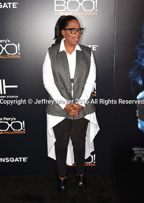 HOLLYWOOD, CA - OCTOBER 17: Producer/actress Oprah Winfrey attends the premiere of Lionsgate's 'Boo! A Madea Halloween' at the ArcLight Cinerama Dome on October 17, 2016 in Hollywood, California.