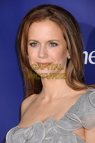 "KELLY PRESTON .""The Memory Keeper's Daughter"" Los Angeles Premiere at the Cinerama Dome, Hollywood, California, USA,.8 April 2008..portrait headshot grey gray one shoulder .CAP/ADM/BP.©Byron Purvis/Admedia/Capital PIctures"