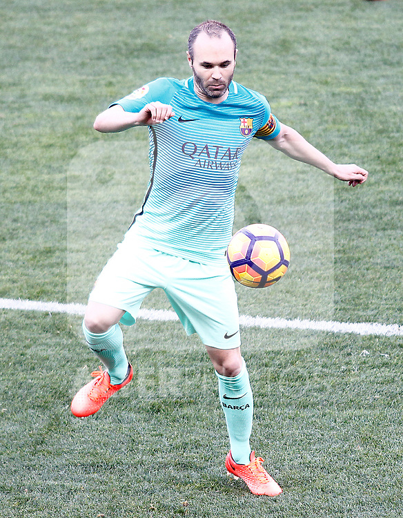 FC Barcelona's Andres Iniesta during La Liga match. February 26,2017. (ALTERPHOTOS/Acero)