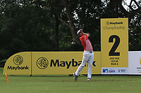 Suradit Yongcharoenchai (THA) in action on the 2nd during Round 1 of the Maybank Championship at the Saujana Golf and Country Club in Kuala Lumpur on Thursday 1st February 2018.<br /> Picture:  Thos Caffrey / www.golffile.ie<br /> <br /> All photo usage must carry mandatory copyright credit (© Golffile | Thos Caffrey)