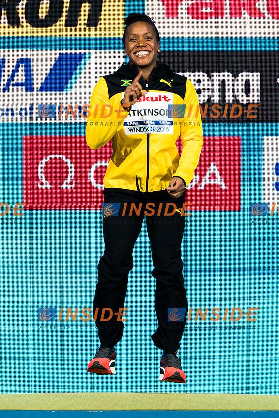 ATKINSON Alia JAM Gold Medal<br /> Women's 100m Breaststroke<br /> 13th Fina World Swimming Championships 25m <br /> Windsor  Dec. 10th, 2016 - Day05 Final<br /> WFCU Centre - Windsor Ontario Canada CAN <br /> 20161210 WFCU Centre - Windsor Ontario Canada CAN <br /> Photo &copy; Giorgio Scala/Deepbluemedia/Insidefoto