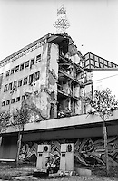 Belgrado, il palazzo della RTS (radio e televisione pubblica serba) distrutto dai bombardamenti NATO nel 1999 (causando 16 morti) --- Belgrade, the building of the Serbian Broadcasting Corporation (RTS - Radio Television of Serbia) damaged by NATO bombing in 1999 (causing 16 dead)