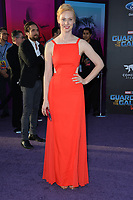 Deborah Ann Woll at the world premiere for &quot;Guardians of the Galaxy Vol. 2&quot; at the Dolby Theatre, Hollywood. <br /> Los Angeles, USA 19 April  2017<br /> Picture: Paul Smith/Featureflash/SilverHub 0208 004 5359 sales@silverhubmedia.com