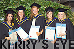 Andrea McGill, Caherciveen, Eimear McElligott, Asdee, Nuala O'Connor, Scartaglin, Jenifer Cashman Ballyheigueand Mellissa Ross Tralee who graduated  with a Bachelor of Science (Honours) in Health, Fitness and Leisure studies at the Autumn graduations which took place at the Brandon hotel on Friday.