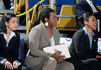 Florida International University assistant coach Joanne Aluka-White during the game against Stetson University in the first round of the NIT.  FIU won the game 75-47 on March 15, 2012 at Miami, Florida. .