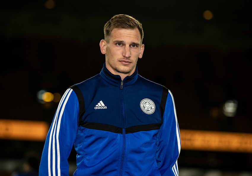 Leicester City's Marc Albrighton pictured before the match <br /> <br /> Photographer Andrew Kearns/CameraSport<br /> <br /> The Premier League - Wolverhampton Wanderers v Leicester City - Friday 14th February 2020 - Molineux - Wolverhampton<br /> <br /> World Copyright © 2020 CameraSport. All rights reserved. 43 Linden Ave. Countesthorpe. Leicester. England. LE8 5PG - Tel: +44 (0) 116 277 4147 - admin@camerasport.com - www.camerasport.com