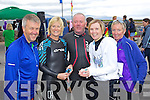 ATHLETES: l-r: Ger Devine, Eileen Curtin, Peter O'Mahony, Mairead Fox and Sally Anne Devine at the Tralee Triathlon Club Event in Fenit on Saturday.