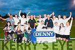 Champions<br /> ---------------<br /> Inter Kenmare ladies team celebrate their win over Tralee Dynamos in the Denny league final last Wednesday evening at Mounthawk Park,Tralee.Kenmare won 3-1 after extra time