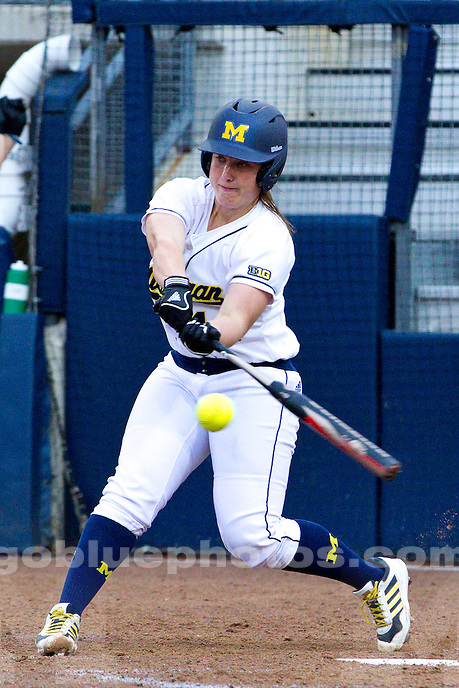 The University of Michigan women's softball team defeats Western Michigan, 8-0, at Alumni Field in Ann Arbor, Mich., on April. 8, 2014.