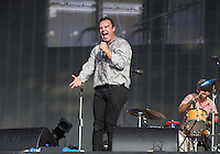 The Future Islands during British Summertime Music Festival at Hyde Park, London, England on 18 June 2015. Photo by Andy Rowland.