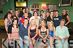 21st: Andrea Walsh (seated third left), Listowel celebrated her 21st birthday on Saturday night in The New Kingdom Bar, Listowel with her boyfriend Gary O'Keeffe, mom Mary, sister Clodagh, along with many family & friends.