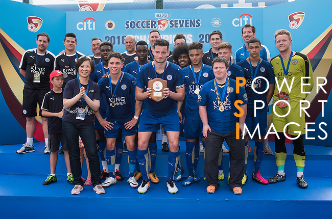 Leicester City are the Shield Final Winners of the Main tournament of the HKFC Citi Soccer Sevens on 22 May 2016 in the Hong Kong Footbal Club, Hong Kong, China. Photo by Lim Weixiang / Power Sport Images