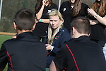 Sport Your Trainers Day at Cardiff High School with cyclist Ciara Horne.<br /> <br /> 10.03.14<br /> <br /> ©Steve Pope-SPORTINGWALES