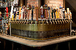 Brooklyn, New York:  Spritzenhaus, a new German-style beer hall in Greenpoint, has four stations with 25 beers on tap. ..(Photo by Danny Ghitis/amNY)