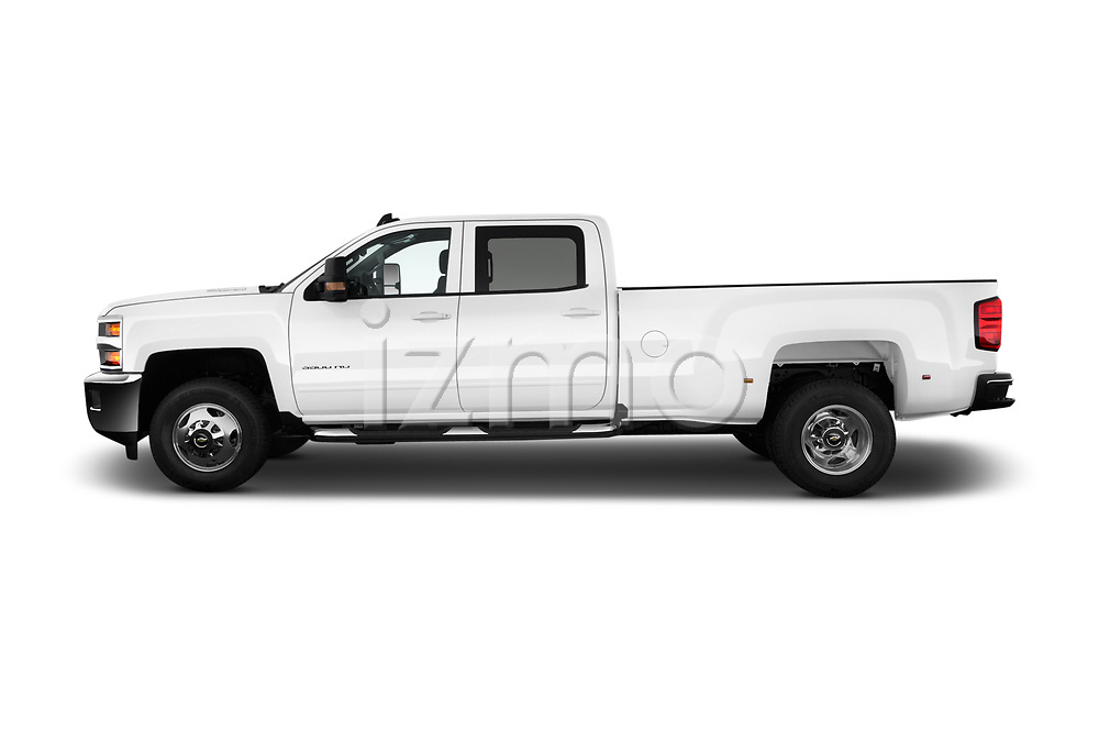 Car Driver side profile view of a 2017 Chevrolet Silverado-3500HD LT-Crew-DRW 4 Door Pick-up Side View