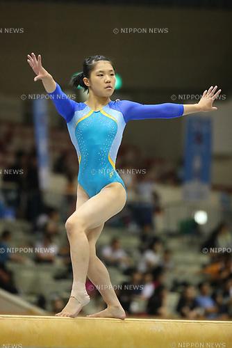 Ayaka Sakaguchi (), <br /> AUGUST 21, 2017 - Artistic Gymnastics : <br /> 48th All Japan Junior High School Championships <br /> Women's Individual All-Around <br /> Balance Beam <br /> at Kitakyushu City General Gymnasium, Fukuoka, Japan. <br /> (Photo by YUTAKA/AFLO)