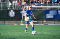 Allston, MA - Sunday, May 22, 2016: Boston Breakers defender Julie King (8) during a regular season National Women's Soccer League (NWSL) match at Jordan Field.