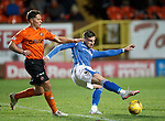 Dundee United v St Johnstone....21.11.15  SPFL,  Tannadice, Dundee<br /> Michael O'Halloran and John Rankin<br /> Picture by Graeme Hart.<br /> Copyright Perthshire Picture Agency<br /> Tel: 01738 623350  Mobile: 07990 594431