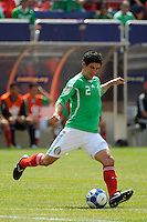 Jonny Magallon (2) of Mexico (MEX). Mexico (MEX) defeated the United States (USA) 5-0 during the finals of the CONCACAF Gold Cup at Giants Stadium in East Rutherford, NJ, on July 26, 2009.