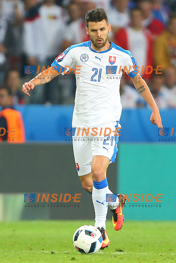 Michal Duris Slovakia <br /> Lille 15-06-2016 Stade Pierre Mauroy Footballl Euro2016 Russia - Slovakia / Russia - Slovacchia Group Stage Group B. Foto Gwendoline Le Goff / Panoramic / Insidefoto