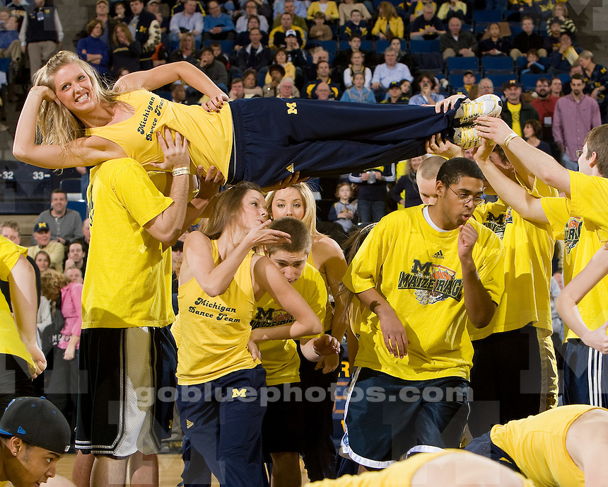 University of Michigan men's basketball 60-46 victory over Iowa at Crisler Arena on 1/30/10.