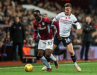 Bolton Wanderers' Pawel Olkowski competing with Aston Villa's Albert Adomah <br /> <br /> Photographer Andrew Kearns/CameraSport<br /> <br /> The EFL Sky Bet Championship - Aston Villa v Bolton Wanderers - Friday 2nd November 2018 - Villa Park - Birmingham<br /> <br /> World Copyright &copy; 2018 CameraSport. All rights reserved. 43 Linden Ave. Countesthorpe. Leicester. England. LE8 5PG - Tel: +44 (0) 116 277 4147 - admin@camerasport.com - www.camerasport.com