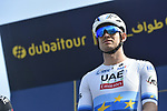 Alexander Kristoff (NOR) UAE Team Emirates at sign on before the start of Stage 3 The Silicon Oasis Stage of the Dubai Tour 2018 the Dubai Tour&rsquo;s 5th edition, running 180km from Skydive Dubai to Fujairah, Dubai, United Arab Emirates. 7th February 2018.<br /> Picture: LaPresse/Fabio Ferrari | Cyclefile<br /> <br /> <br /> All photos usage must carry mandatory copyright credit (&copy; Cyclefile | LaPresse/Fabio Ferrari)