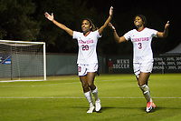 STANFORD, CA - NOVEMBER 22: Stanford, CA - November 22, 2019: Catarina Macario, Madison Haley at Laird Q. Cagan Stadium. The Stanford Cardinal defeated Hofstra 4-0 in the second round of the NCAA tournament. during a game between Hofstra and Stanford Soccer W at Laird Q. Cagan on November 22, 2019 in Stanford, California.