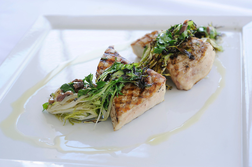 Grilled swordfish. Photo to go with kitchen technician Damacol, 14 of 16, Feb. 10, 2011 at Sanford restaurant. Ernie Mastroianni photo.