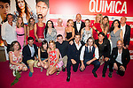 """The cast attends the premiere of the film """"Solo Química"""" at Palafox Cinema in Madrid, Spain. July 14, 2015.<br />  (ALTERPHOTOS/BorjaB.Hojas)"""