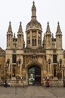 UK, England, Cambridge.  King's College Entrance.