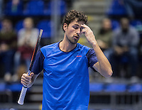 Rotterdam, Netherlands, December 16, 2016, Topsportcentrum, Lotto NK Tennis,  Robin Haase (NED) <br /> Photo: Tennisimages/Henk Koster