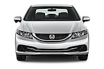 Car photography straight front view of a 2015 Honda Civic Sedan NGV 2 Door  Front View