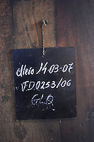 sign on tank chalk board adega cooperativa de borba alentejo portugal