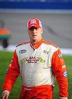 Feb 21, 2009; Fontana, CA, USA; NASCAR Nationwide Series driver D.J. Kennington prior to the Stater Brothers 300 at Auto Club Speedway. Mandatory Credit: Mark J. Rebilas-