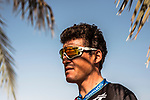 Greg Van Avermaet (BEL) BMC Racing Team at sign on before the start of Stage 3 of the 2018 Tour of Oman running 179.5km from German University of Technology to Wadi Dayqah Dam. 15th February 2018.<br /> Picture: ASO/Muscat Municipality/Kare Dehlie Thorstad | Cyclefile<br /> <br /> <br /> All photos usage must carry mandatory copyright credit (&copy; Cyclefile | ASO/Muscat Municipality/Kare Dehlie Thorstad)