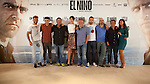 MADRID, SPAIN - AUGUST 26: (L-R) Jesus Carroza, Said Chatiby, Sergi Lopez, Barbara Lennie, Daniel Monzon, Jesus Castro, Luis Tosar, Eduard Fernandez, Mariam Bachir attends a photocall for El Nino at the Hesperia Hotel on August 26, 2014 in Madrid, Spain.in Madrid, Spain (ALTERPHOTOS / Nacho Lopez)