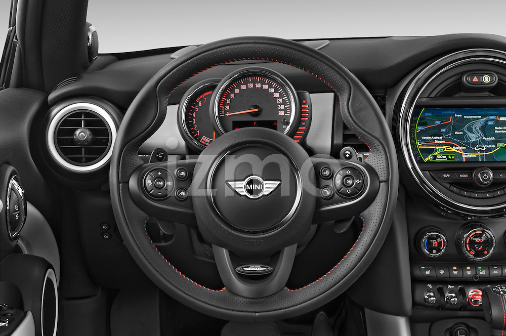 Car pictures of steering wheel view of a2015 MINI MINI COOPER S 3 Door Hatchback 2WD Steering Wheel