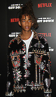 NEW YORK, NY-August 11:  Jaden Smith at NETFLIX presents the New York premiere of The Get Down at Lehman Center for the Performing Arts in Bronx .NY. August 11, 2016. Credit:RW/MediaPunch